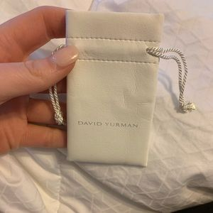 David Yurman Small Pouch in white leather